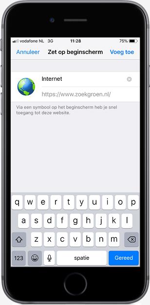 ZoekGroen instellen in Safari (stap 4)