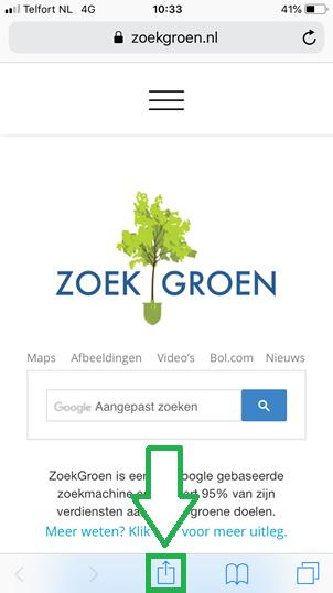 Bladwijzers kopieren van Safari app naar Chrome app (stap 2)