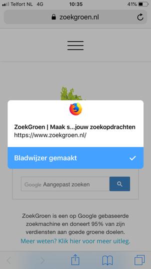 Bladwijzers kopieren van Safari app naar Firefox app (stap 7)