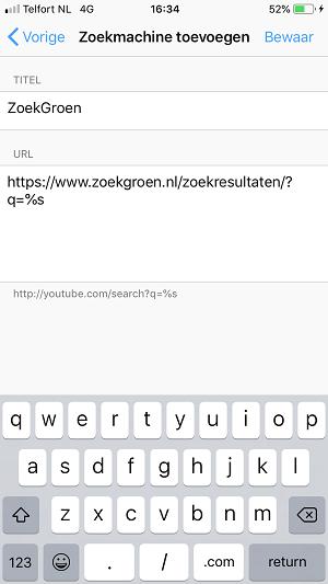 ZoekGroen instellen in Firefox-app (stap 5)
